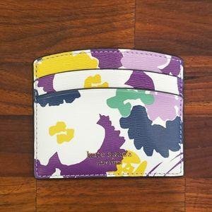 Kate Spade card/money holder. Floral design.